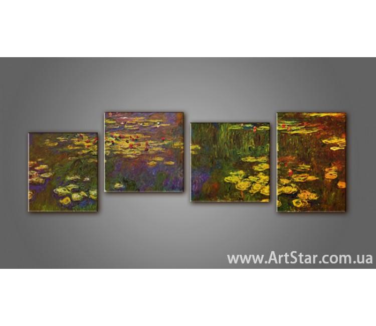Модульная картина Клод Моне (4) 2