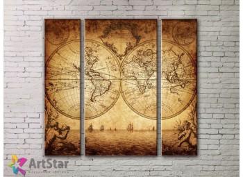 Модульные Картины, древние карты, Art. MPP778004