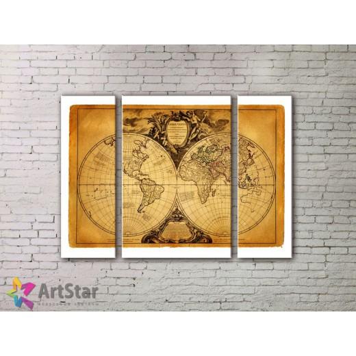 Модульные Картины, древние карты, Art. MPP778008