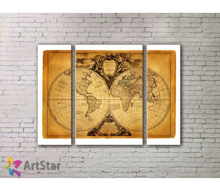 Модульные Картины, древние карты, Art. MPP7780008