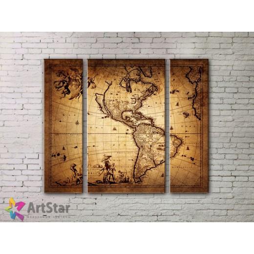 Модульные Картины, древние карты, Art. MPP778010