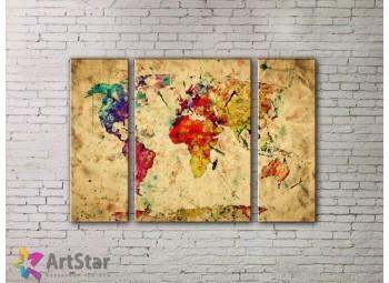 Модульные Картины, древние карты, Art. MPP778016