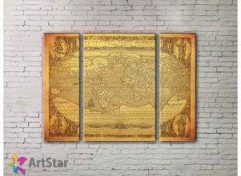 Модульные Картины, древние карты, Art. MPP778018