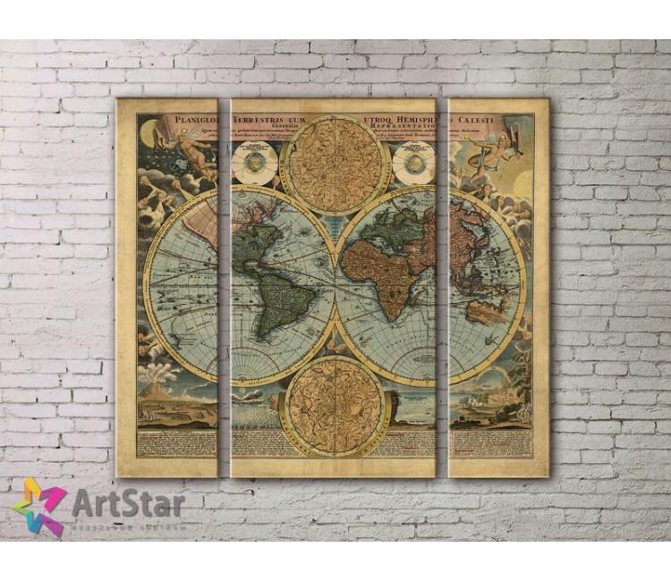 Модульные Картины, древние карты, Art. MPP778020