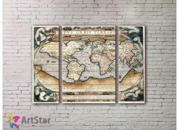 Модульные Картины, древние карты, Art. MPP778022