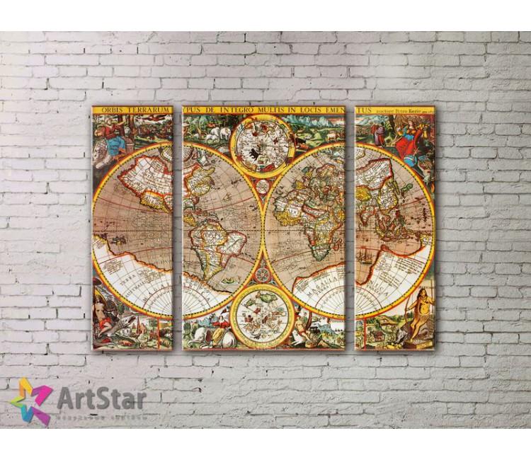 Модульные Картины, древние карты, Art. MPP778024