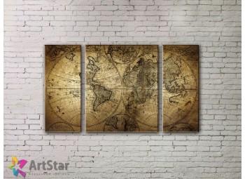 Модульные Картины, древние карты, Art. MPP778026