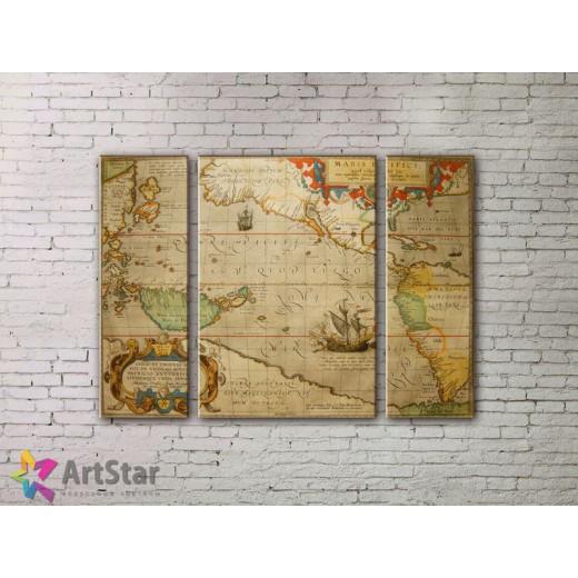 Модульные Картины, древние карты, Art. MPP778028