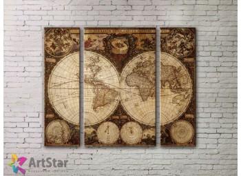 Модульные Картины, древние карты, Art. MPP778032