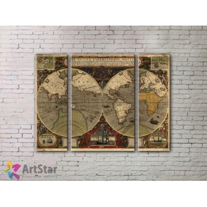 Модульные Картины, древние карты, Art. MPP778038