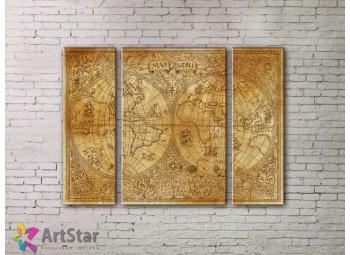 Модульные Картины, древние карты, Art. MPP778044
