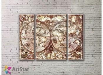 Модульные Картины, древние карты, Art. MPP778047