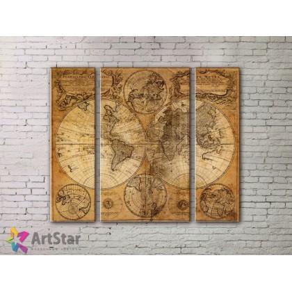 Модульные Картины, древние карты, Art. MPP778050
