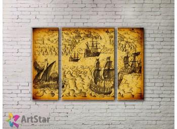 Модульные Картины, древние карты, Art. MPP778054