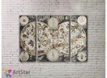 Модульные Картины, древние карты, Art. MPP778058