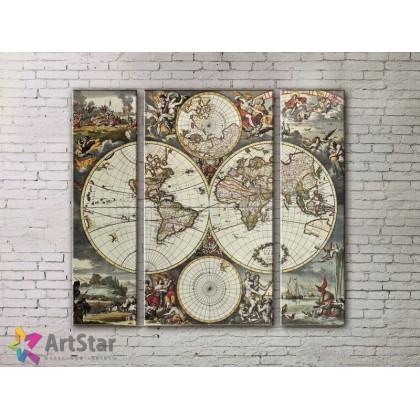 Модульные Картины, древние карты, Art. MPP778062