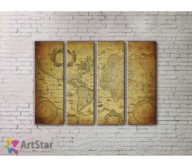 Модульные Картины, старинные карты, Art. MPP778074