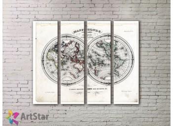 Модульные Картины, старинные карты, Art. MPP778080