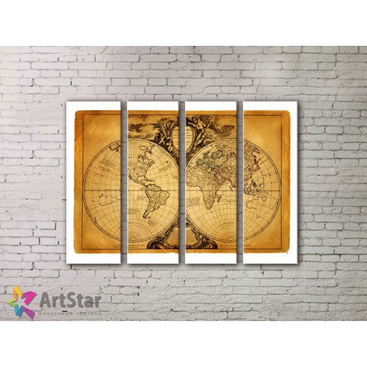 Модульные Картины, старинные карты, Art. MPP778082