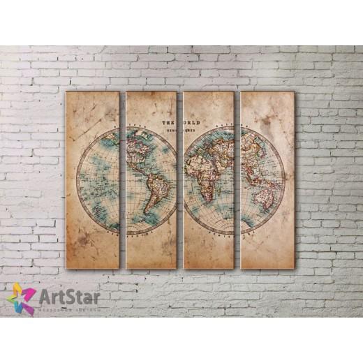 Модульные Картины, старинные карты, Art. MPP778086