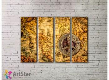 Модульные Картины, старинные карты, Art. MPP778088