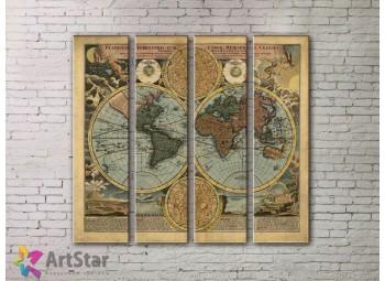 Модульные Картины, старинные карты, Art. MPP778094
