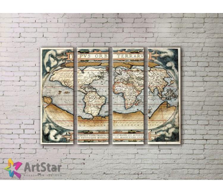 Модульные Картины, старинные карты, Art. MPP778076
