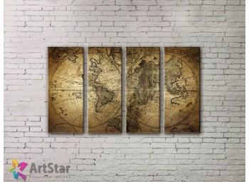 Модульные Картины, старинные карты, Art. MPP778100