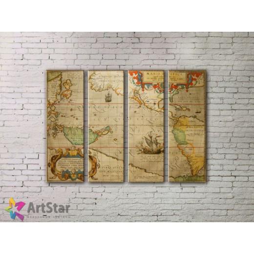 Модульные Картины, старинные карты, Art. MPP778102