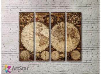 Модульные Картины, старинные карты, Art. MPP778106