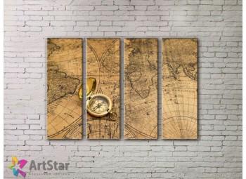 Модульные Картины, старинные карты, Art. MPP778108