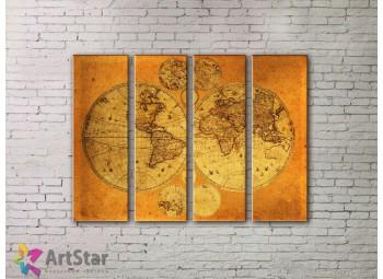 Модульные Картины, старинные карты, Art. MPP778110