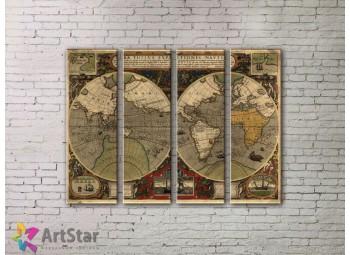 Модульные Картины, старинные карты, Art. MPP778112