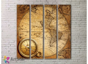 Модульные Картины, старинные карты, Art. MPP778126