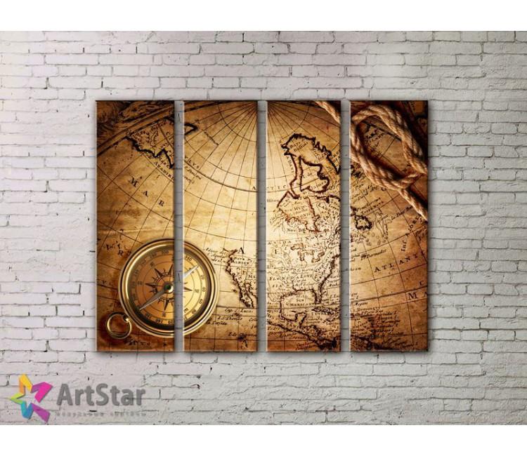 Модульные Картины, старинные карты, Art. MPP778130