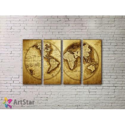 Модульные Картины, старинные карты, Art. MPP778140