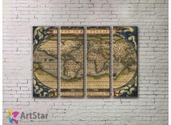 Модульные Картины, старинные карты, Art. MPP778142