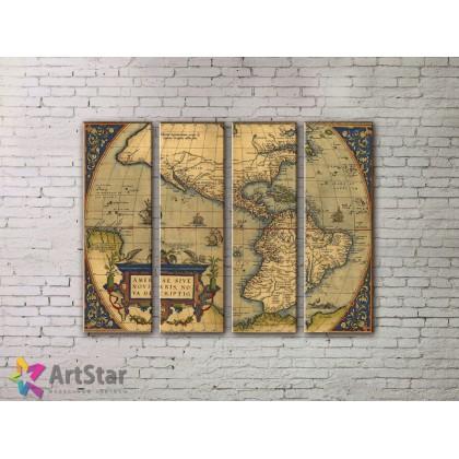 Модульные Картины, старинные карты, Art. MPP778144