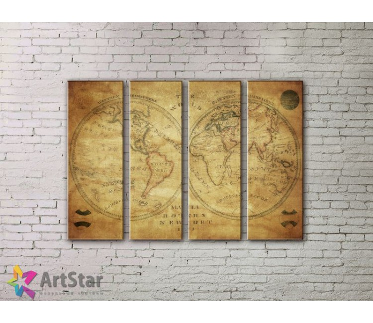 Модульные Картины, старинные карты, Art. MPP778146