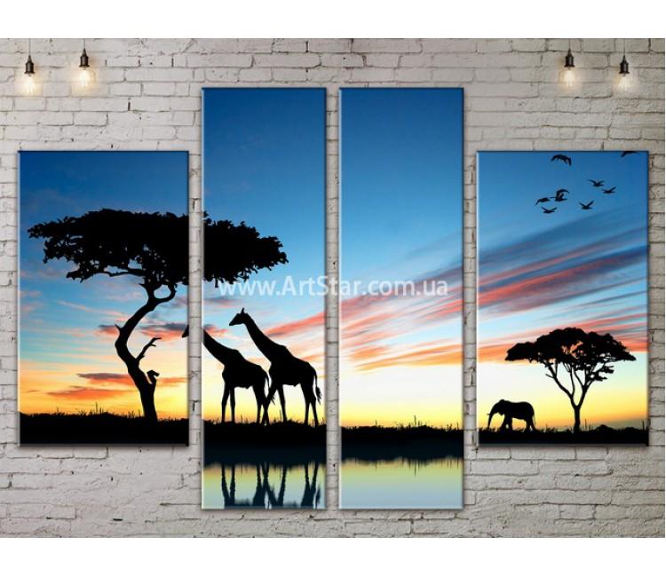 Модульные картины пейзажи, Art. NATA777177