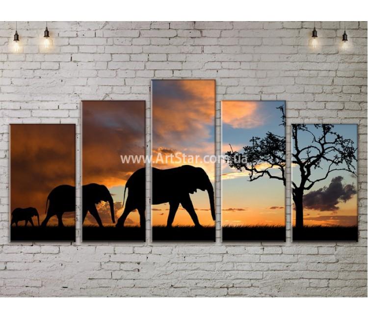 Модульные картины пейзажи, Art. NATA777339