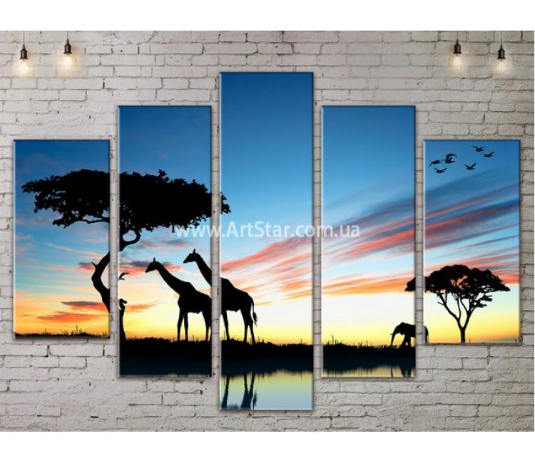 Модульные картины пейзажи, Art. NATA777341