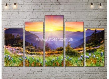 Модульные картины пейзажи, Art. NATA777343