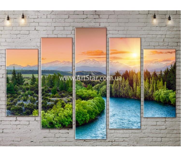 Модульные картины пейзажи, Art. NATA777403