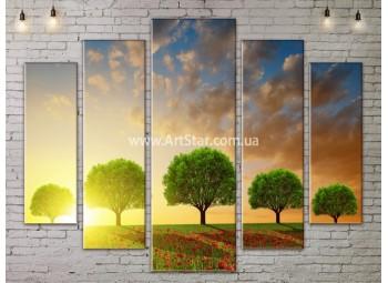 Модульные картины пейзажи, Art. NATA777431