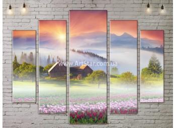 Модульные картины пейзажи, Art. NATA777473