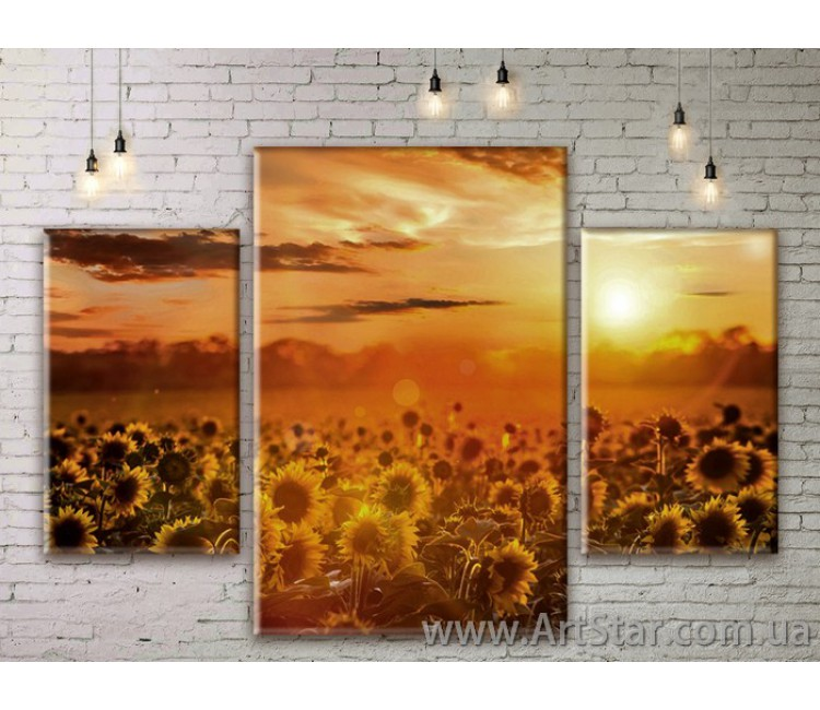 Модульные картины пейзажи, Art. NATM0055