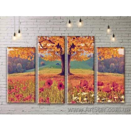 Модульные картины, пейзажи, Art. NATM0299