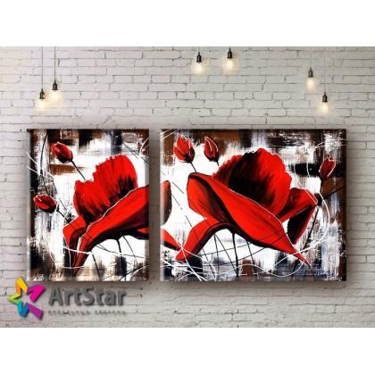 Модульные Картины, рисованные, маслом, Art. MHM17_2_003