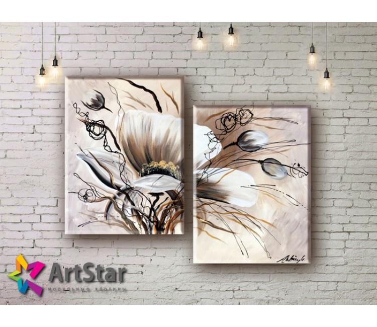 Модульные Картины, рисованные, маслом, Art. MHM17_2_029